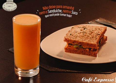 Café Expresso – Suco + Sanduíche
